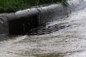 Drain Catches Stormwater Runoff